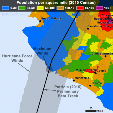 Looking back at Hurricane Patricia – the most powerful tropical cyclone ever